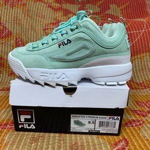 Fila Disruptor Platform Sneakers Turquoise White